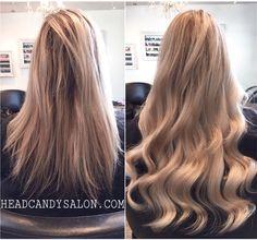 Blonde Highlights / Tape Hair Extensions #blonde #highlights #tapehairextensions #hairextensions #tapehair #longhair #hairstyle #hair
