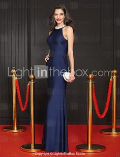 TS Couture® Formal Evening Dress Trumpet / Mermaid Jewel Floor-length Jersey with Beading 2016 - $85.49