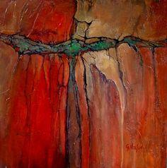"""RADIANT"" 11059 by Carol Nelson  ~ 24 x 24"