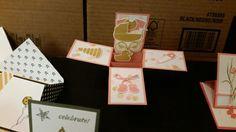 3d shoebox card baby pop up box