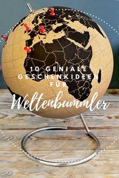 Ideen für geniale, schöne und nützliche Geburtstagsgeschenke für Reisende.