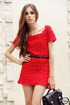 Платье-туника квадратными мотивами