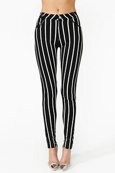 Striped Skinny Jeans