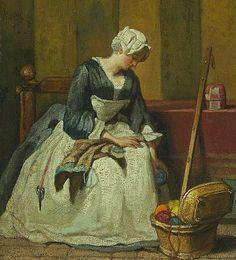 Jean-Baptiste-Siméon Chardin  The Embroiderer  18th century