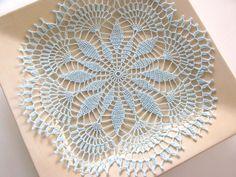 Aqua Crochet Doily.