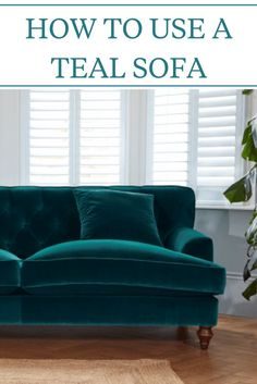 If you are thinking of buying a new stylish sofa for your home, Teal is the colour for you. Teal sofas are a bold, fun choice to give your room colour. Living Room Turquoise, Teal Living Rooms, Living Room Sofa, Living Room Designs, Teal Living Room Furniture, Peacock Living Room, Bright Living Room Decor, Teal Velvet Sofa, Teal Couch
