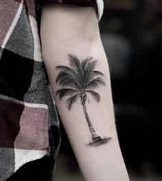 Stunning Palm Tree Tattoo by Turan