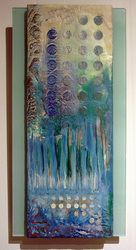 """Om, Water"" Encaustic on wood, Glass Zen Art, Wood Glass, Om, Gallery, Water, Artwork, Artist, Painting, Gripe Water"