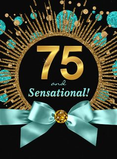 75 and Sensational Birthday invitations - elegant and colorful, these 75th birthday invites are sure to set the stage for a fabulous 75th celebration! Click for more details.