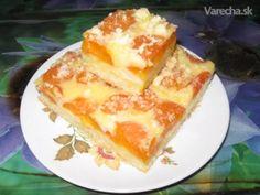 Jednoduchý Mrvený Koláč S Pudingom a Marhuľami (fotorecept) Apricot Cake, Cream Puff Recipe, Czech Recipes, Energy Bites, Croissants, Sweet Recipes, French Toast, Sweet Tooth, Cheesecake