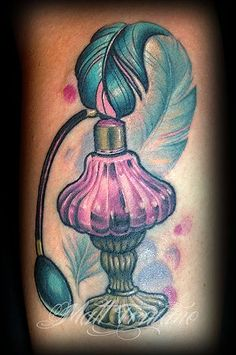 neo traditional perfume bottle tattoo matt truiano