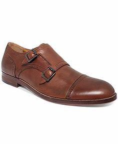 Johnston & Murphy Clayton Double Buckle Cap-Toe Shoes