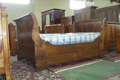 Chestnut French bateau bed