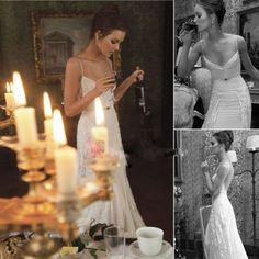 Hot-Sale-White-Ivory-Inbal-Dror-Straps-Backless-Lace-Bridal-Dress-Wedding-Gowns