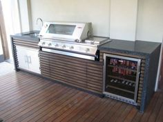 Get some inspiration for your Built In BBQ area, Come and talk to us about your Built in BBQ area. With a huge range of BBQ Outdoor Kitchens available. Grill Area, Bbq Area, 6 Burner Bbq, Diy Grill, Bbq Kitchen, Kitchen Sink, Kitchen Ideas, Built In Grill, Outdoor Kitchen Design