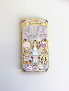 Book phone /iPhone flip Wallet case Alice in by chicklitdesigns