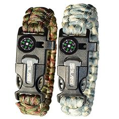 cbfca3d3b43 LAUNCH OFFER BLANST SURVIVAL BRACELET KIT Must Have for Outdoor Camping and  Hiking Gear for Adventourists Life Saving Fire Starter with Paracord Rope      ...