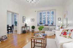 Cozy Swedish Apartment Featuring Original Details