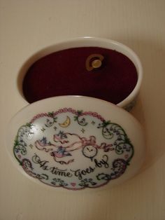 Franklin Porcelain Music Box As Time Goes by BackStageVintageShop