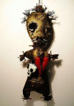 Handmade Voodoo Doll Voodoo Vex by JunkerJane on Etsy