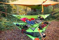 The Trillium by Tentsile is a 3 person hammock that can be used as insulation for your tree tent, as an additional hammock + gear storage hammock camping. Camping Diy, Camping Places, Tent Camping, Outdoor Camping, Camping Gear, Backpacking, Camping Outdoors, Hiking Gear, Suspended Tent