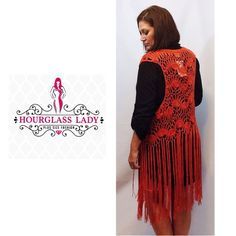"PLUS 1X❤️Rust Long Boho Fringed Crochet Vest ONLY ONE AVAILABLE!! Stunning Long Boho Fringed Crochet Vest Boho beautiful at it's finest! Rust, open style, gorgeous long fringes (approx 25"" long) New, no tags Size 1X (will fit many sizes, open style makes it very versatile) approx 45"" long 100% cotton PRICE FIRM UNLESS BUNDLED ~ Create a bundle for 15% off! Thank you for Looking!  Never paypal, no trades Hourglass Lady Sweaters Cardigans"