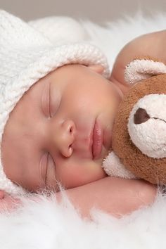 A sleeping baby, nothing is more precious or beautiful than this!