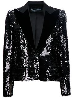 Black sequinned blazer from Dolce