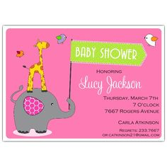 Bbq baby shower invitations baby shower invitation ideas elephant and girrafe baby shower messages filmwisefo