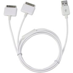 Dual iPhone / iPod Splitter Cable. Charge up to Two Apple Devices At Once From a Single USB Port by neXplug