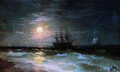 Лунная ночь. 1870-е - Айвазовский Иван Константинович
