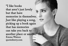 I like books that aren't just lovely but that have ...