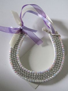 Sparkly purple and cream for the bride by Craftswithchrissie
