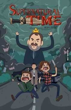 Supernatural + Adventure Time! My two obsessions!