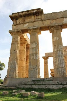 Grecian ruins of Selinunte, on the south coast of Trapani, Italy