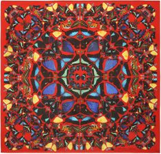 Psalm 113 Circular Scarf | damien hirst + alexander mcqueen unveil scarf collection