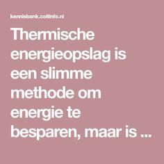 Thermische energieop