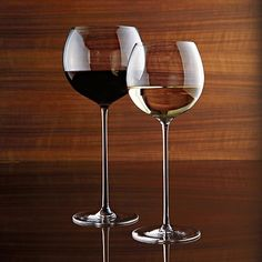 Handcrafted glass rises to the occasion on elongated slender stem with a bubble bowl that's perfect for cradling in hand to allow wines to open up and breathe.