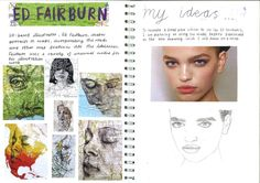 GCSE sketchbook example from KWC