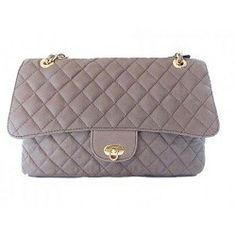 Genuine Leather Bag Bolsa tipo Chanel em Couro Matelassê Legítimo
