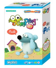 My Pet Poodle - Clay Modeling Kit  Create your very own Poodle with the world's best air drying modeling clay ~ JumpingClay.