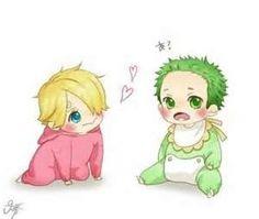 Baby Zoro and Sanji