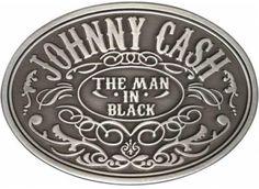 Johnny Cash Belt Buckle - Man In Black