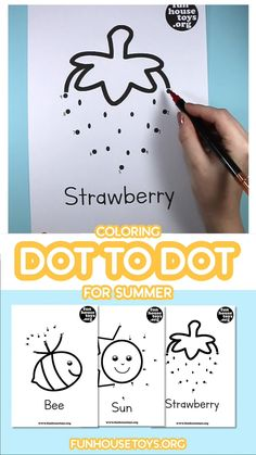 Dot-to-dots worksheets aren't just fun drawing activities—they're a great way to get your kindergartener comfortable with numbers. First, they can connect the dots to finish the picture and then have fun coloring it in. Preschool Activity Sheets, Alphabet Activities Kindergarten, Preschool Learning Activities, Free Preschool, Preschool Printables, Preschool Activities, 5 Year Old Activities, Drawing Activities, Abc Worksheets