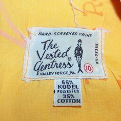 Vintage 60s VESTED GENTRESS dress med cruise dress by pinehaven2, $59.95