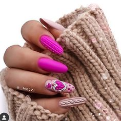 1 resource in the nail industry dedicated to the success of nail professionals everywhere! Use to be featured 💅🏼 Pink Nails, Gel Nails, Acrylic Nails, Manicures, Valentine Nail Art, Valentines, Valentine Gifts For Girlfriend, Sweater Nails, Romantic Look