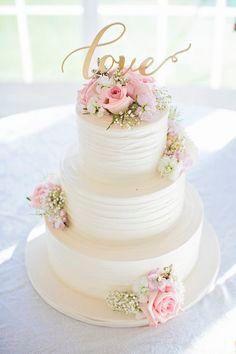 Wedding Cake- flowers- love