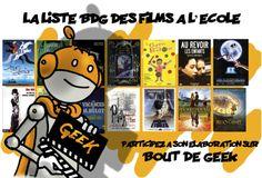 LISTE BDG DES FILMS A VOIR A L'ECOLE PRIMAIRE