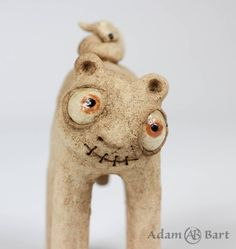 Cute Monster / Fox / Statuette / Creepy Monster / Unique / Sculpture / Figurine / Hand Made / Ceramics / Clay / Gift for Her / (246) by Euble on Etsy