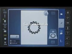 BERNINA 880: how to arrange embroidery patterns with the Shape Designer - YouTube